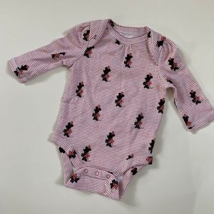 Baby Gap Disney Minnie Mouse L/S Bodysuit